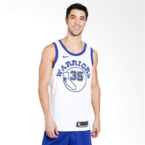 Produk Baru Jersey Kostum Basket Nba Golden State Warriors Sby0710 jual nike basketball kevin durant golden state warriors swingmen jersey kaos basket pria
