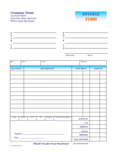 deposit invoice template invoice sle deposit free invoice template
