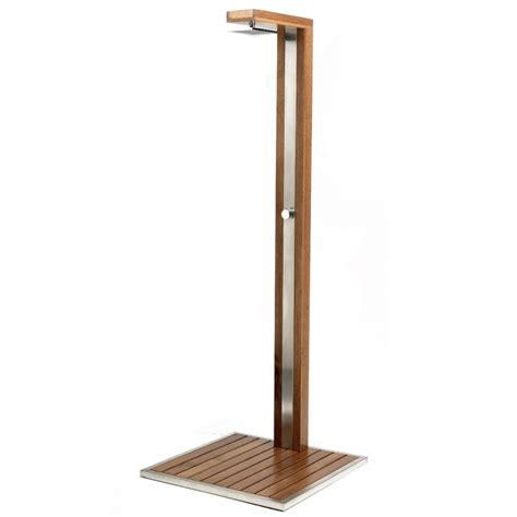 doccia per piscina wood design con miscelatore bsvillage
