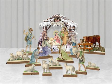 printable paper nativity scene printable paper nativity theater puppets manger puppet