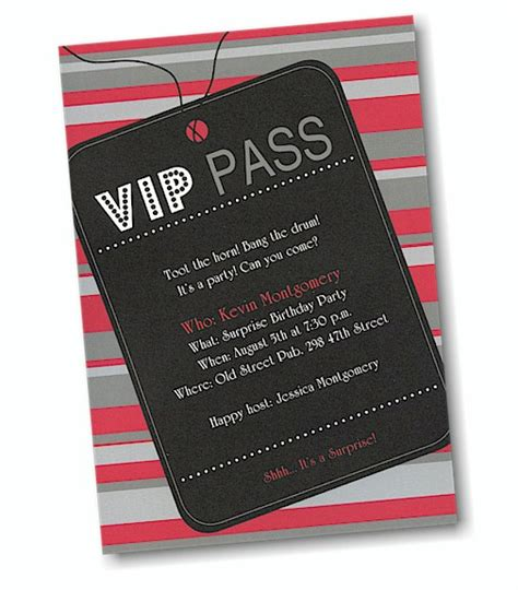 vip pass invitation template vip pass invitation template