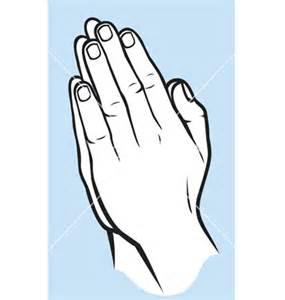 Praying hands silhouettes template best photos of template of praying