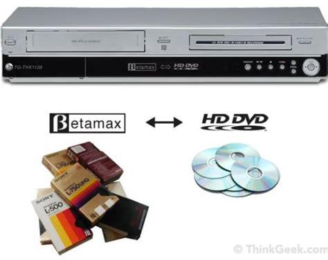 dvd format obsolete betamax to hd dvd converter is already obsolete technabob