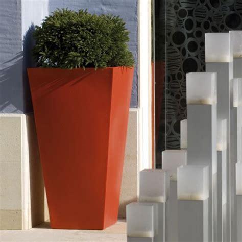 vondom large square tapered tall garden planter pot