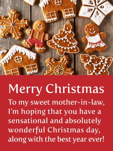 perfect cookies merry christmas card  mother  law birthday greeting cards  davia
