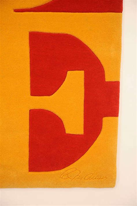 robert indiana rug rug by robert indiana at 1stdibs