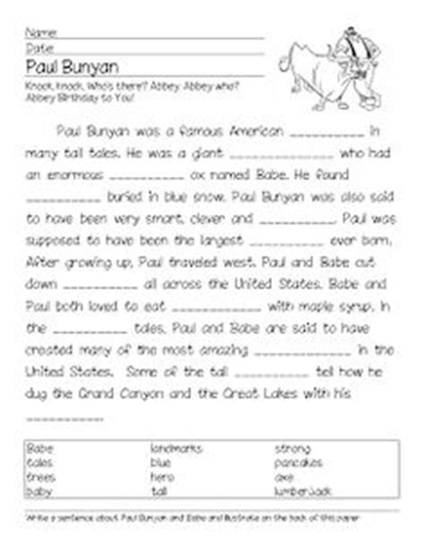 printable version of paul bunyan 1000 images about 2nd grade social studies project on
