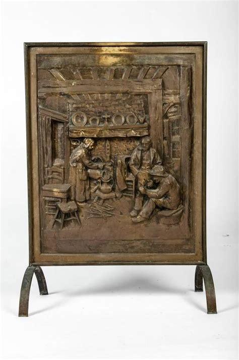 vintage brass fireplace screen antique brass fireplace screen at 1stdibs