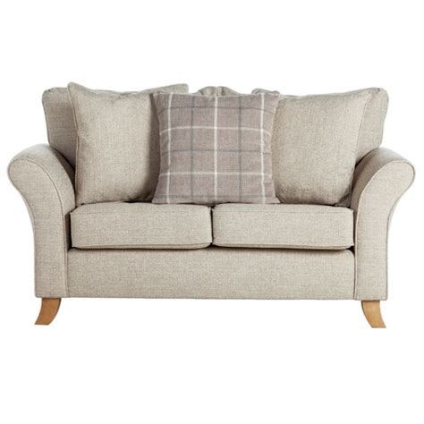 argos settee buy collection kayla 2 seater fabric sofa beige at argos