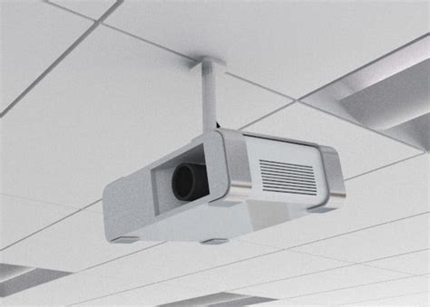 Model Ceiling Mount by Projector Ceiling Classroom 3d Model