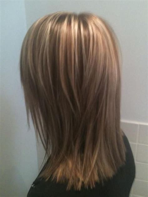 hairstyles color and cut medium this is a graduated shoulder length cut with more