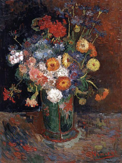vaso di fiori gogh vaso di zinnie e gerani di vincent gogh podcast di