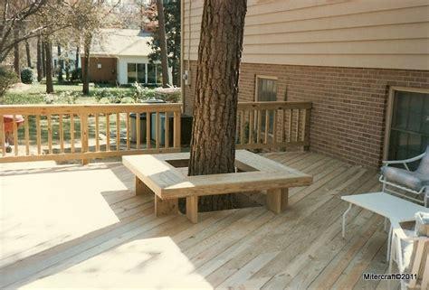 deck  seating  tree deck ideas   deck
