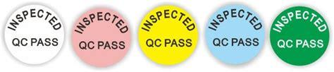 Inspected Ok Sticker Stiker Inspected custom qc pass quality sticker stickly