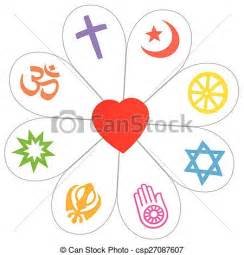 le blume vector clipart of religions peace flower symbol