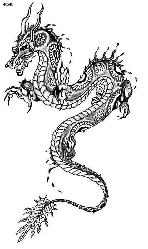 simple asian tattoo design simple chinese dragon tattoo images texture art