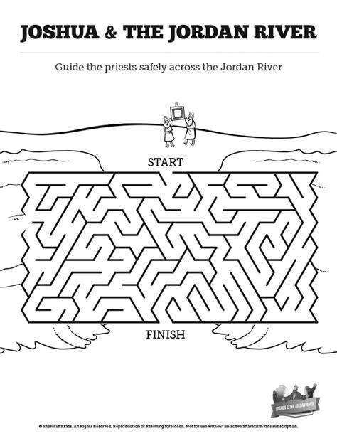 Joshua 3 Crossing The Jordan River River Bible Mazes Can