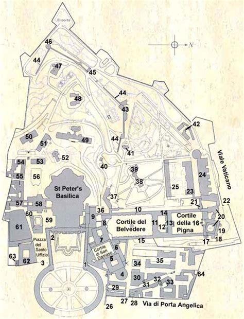 vatican city map map of vatican city italia