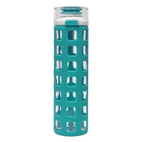 Glass Water Bottle ello syndicate glass water bottle with flip lid so that