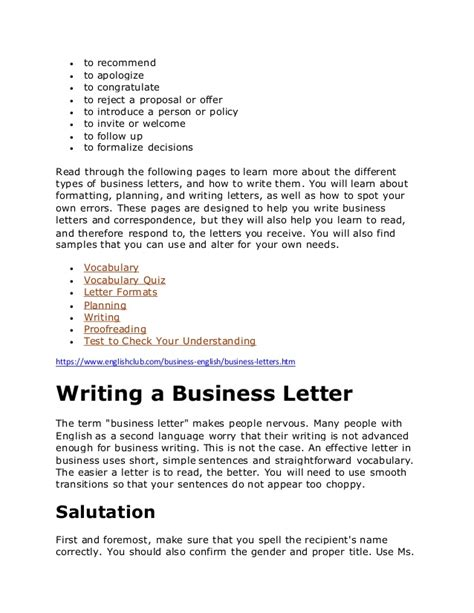 Official Letter Opening Sentence Business Letters In Business Letters Opening Sentences Letter Sle