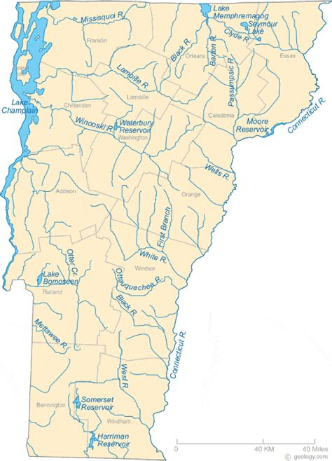 map of vt map of vermont
