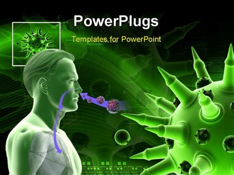 templates powerpoint virus powerpoint template medical theme depicting humanoid