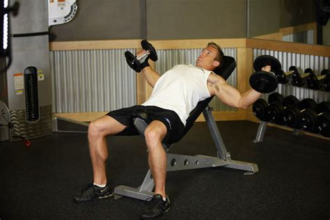 incline bench dumbbell fly incline dumbbell flyes exercise guide and video