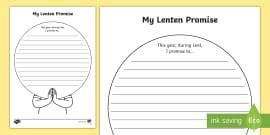 Lenten Promise Card Template by Easter Story Writing Flap Book Flap Book Easter Story