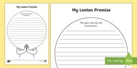 lenten promise card template easter story writing flap book flap book easter story