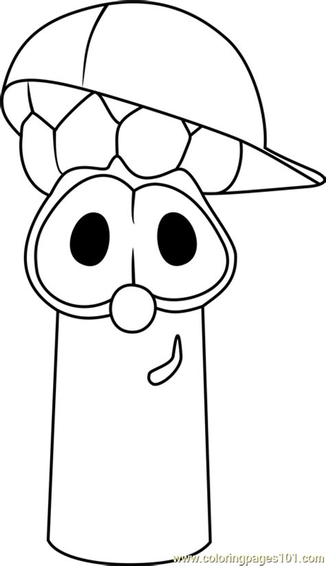coloring pages veggie tales junior asparagus coloring page free veggietales coloring