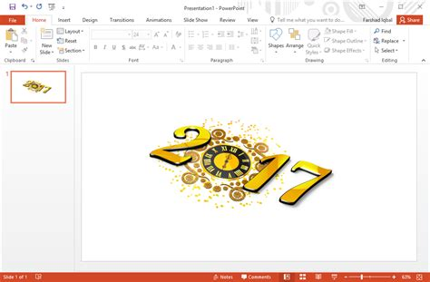 2017 Clock Clipart Fppt Free Ppt Template 2017