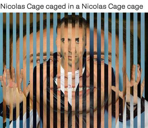 in a cage caged in a nicolas cage cage nicolas cage your meme