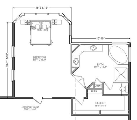 Master Bedroom And Bath Plans | master bathroom and closet floor plans woodworking