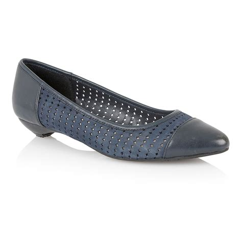 flat blue shoes lotus flat shoes in blue navy lyst