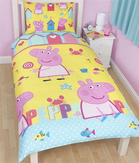 Peppa Pig Bed Set Duvet peppa pig seaside single duvet set contemporary children s bedding other metro by toys r us