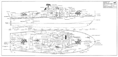 pt boat line drawings ships plans