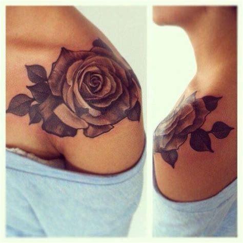 rose tattoo on shoulder woman best 25 flower shoulder tattoos ideas on pinterest
