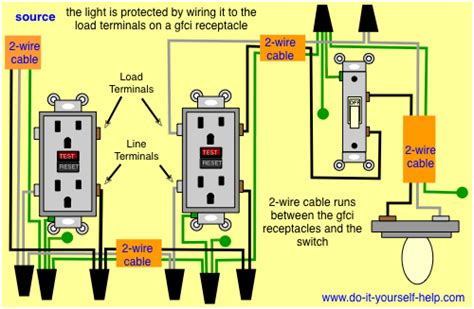 gfci and light switch in the same box wiring diagrams for ground fault circuit interrupter