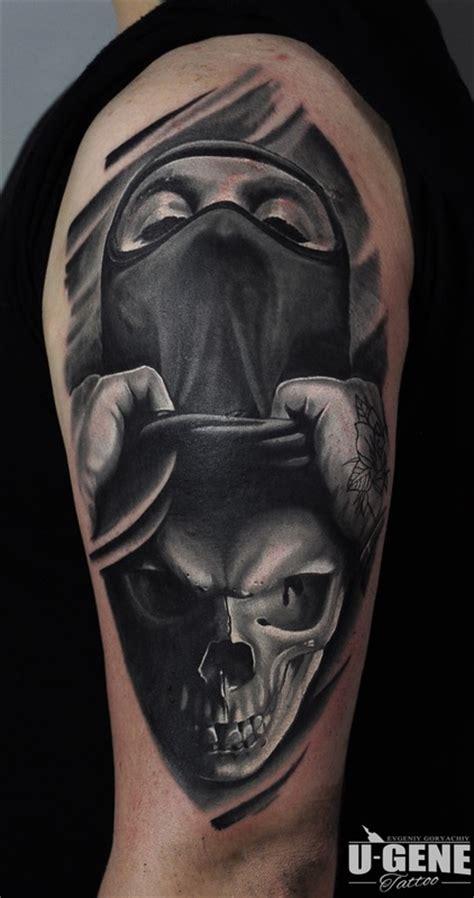 black and grey gangster tattoos u gene inkspiration world