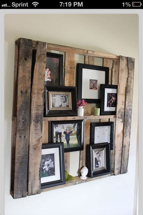 picture frame display pallet picture frame display for the home