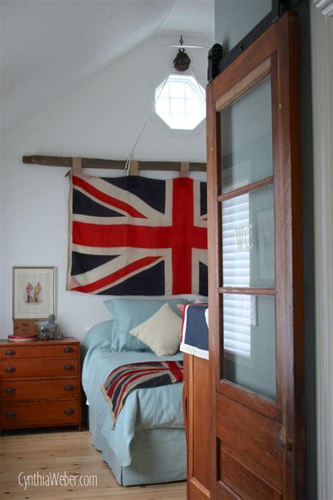 client diaries jess brad union jack master bedroom cynthia weber design