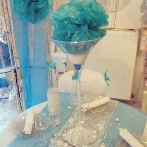 Decoration De Table Bleu Turquoise by D 233 Coration De Table En Bleu Turquoise Decoration Mariage