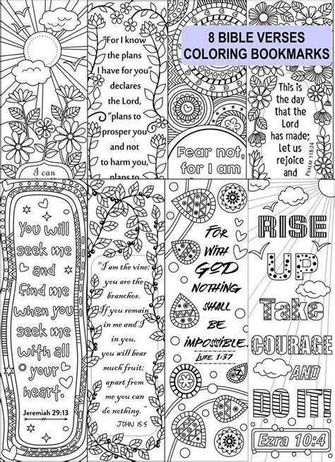 printable religious bookmarks to color 8 bible verse coloring bookmarks bookmark template
