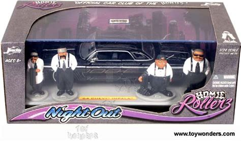 Hommies Figure Diorama Diecast Wheels Wolfe 1964 chevy impala top w figures by toys homie rollers out 1 24 scale diecast