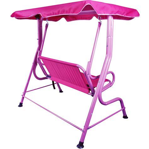 pink garden swing kids 2 seat pink garden swing hammock w saftey belts ebay