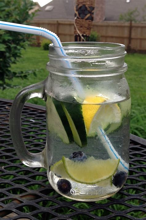 Lime In Water Detox by Cucumber Lime Blueberry Infused Water A Merry