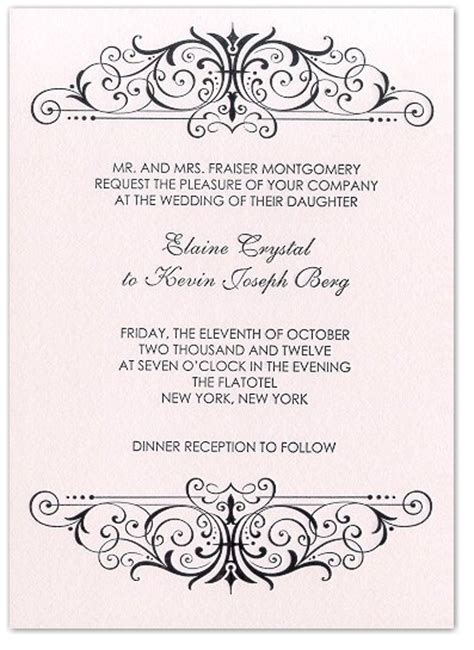 free scroll patterns for wedding invitations classic chic letterpress wedding invitation with black