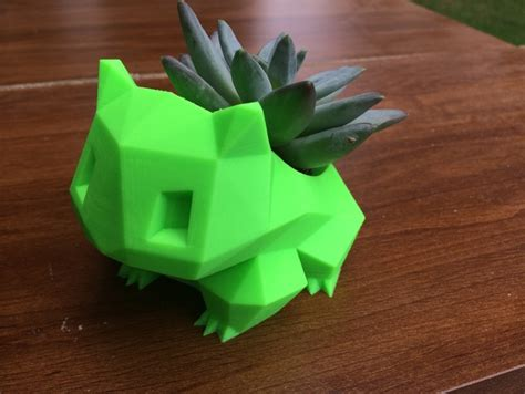 Bulbasaur Planter by 3ders Org A Fan S 3d Printed Pok 233 Mon Planter Faces Nintendo Copyright Claim 3d Printer News