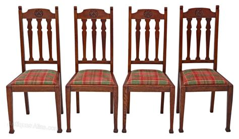 set of 4 oak dining chairs nouveau antiques atlas