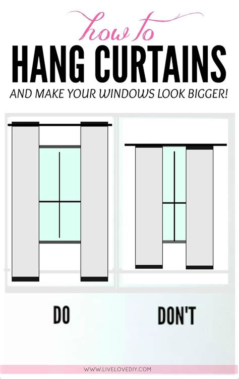 1000 ideas about hanging curtains on pinterest window